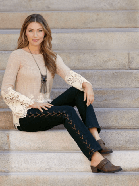 Lace-up-Jean