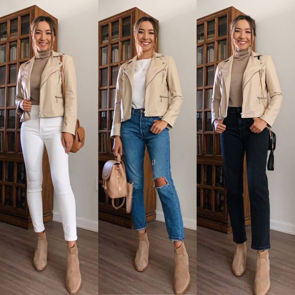 Neutral With a Leather Jacket on Top
