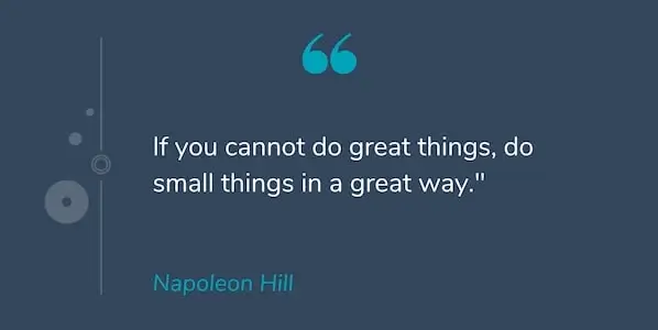 do small things in good way